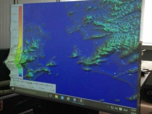 3D-impressie baai van Rio